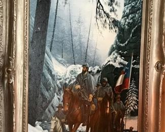 Signed oil paintings, soldier painting