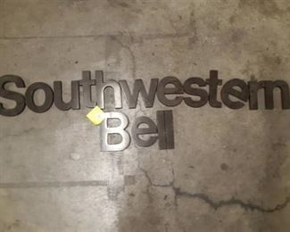 Large Wall Mount Metal Lettering Southwestern Bell