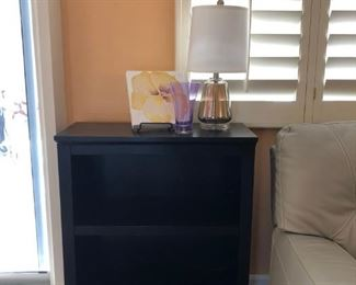 Small Bookcase/Side Table, Table Lamp (pr)