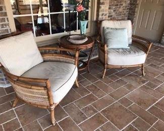 Palecek Furniture for sunroom or great room.  Fabulous shape, like brand new.