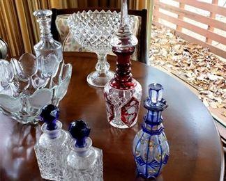 Bohemian glass decanters