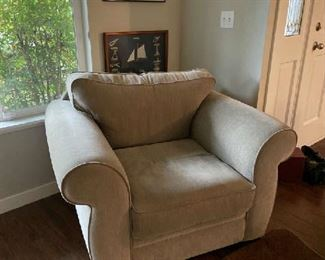 Lazy-boy chair {$125} matches loveseat and sofa