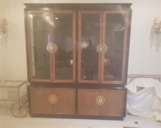Black Lacquer China Cabinet