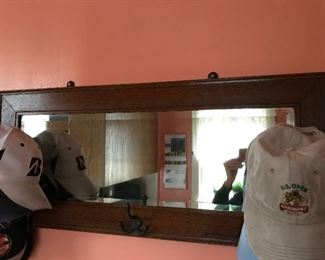 Oak hall mirror