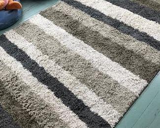 Striped shag rug