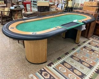 Super Poker Table with bill bank