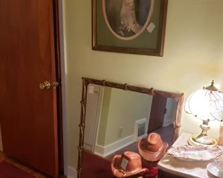 PICTURE AND ANTIQUE MIRROR