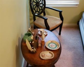SIDE TABLE AND KNICK KNACKS