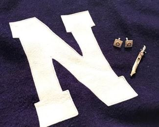 Vintage 1940s Northwestern University Stadium Blanket and Pins https://ctbids.com/#!/description/share/283929