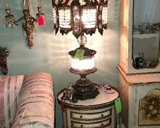 One pair of Vintage Lamps  and Accessories, Etc