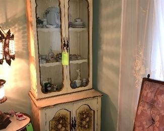 French Cabinet Full of Collectibles