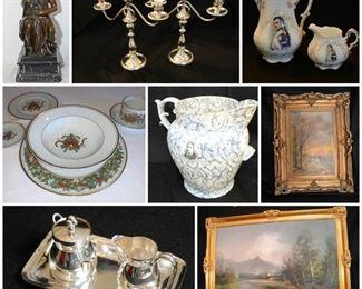 Sterling Silver, Bronze, Fine Art, Oil Painting, Fine China, Lladro, Armani