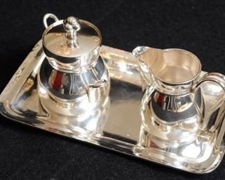 STERLING SILVER CREAM AND SUGAR SET WITH TRAY https://ctbids.com/#!/description/share/281989