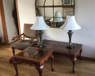 Table, Chair, and Lamp Lot