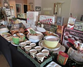 Lots of new in box and as new cooking items