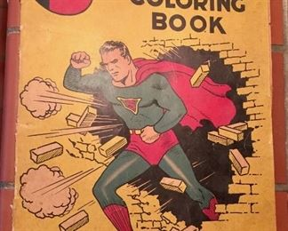 Vintage Superman Coloring Book