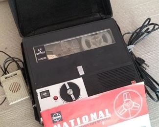 National Solid State Portable Tape Recorder