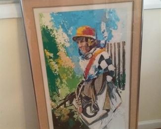 Wayland Moore The Jockey Serigraph, Signed and Numbered