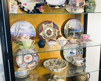 Beautiful Collection of Antique Vases , Platters and a variety of Porcelains