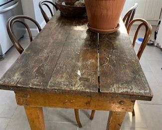 Gorgeous patina antique Danish farm table