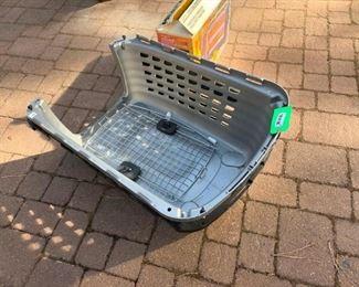 Large Plastic Dog Crate with Metal Door