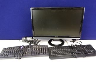 Dell Brand Flat Screen Monitors Keyboards with PSU