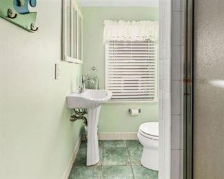 Pedestal sink; Kohler toilet