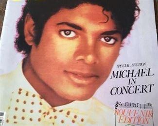 ". . . Michael Jackson ""Michael"" concert program."