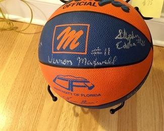 Signed 1980s Gator basketball