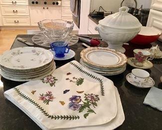 Limoges, portmeirion, glass, lustreware