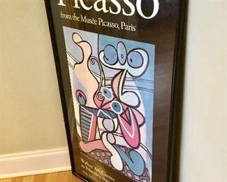 Vintage framed Picasso poster