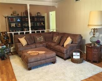 Sectional with ottoman is SOLD.