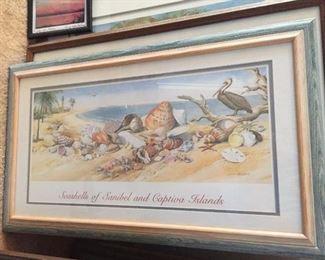 Sanibel Island and coastal art