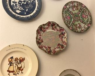 assorted collectible plates