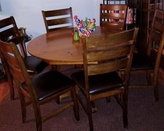 Vintage dining suite made in the 70's by cabinet maker from Chattanooga