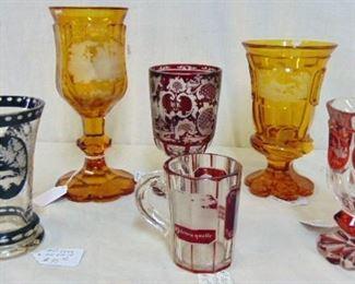 Lots of early German Bohemian glass