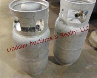 2 Forklift propane bottles (empty)