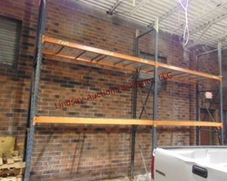 2 sections pallet racking w/ 2 shelves each 9.5'x3'x14.5'