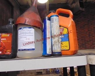 Misc partial bottles oil, grease other