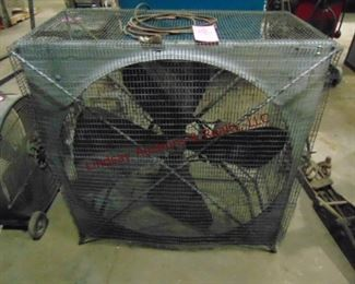 "18"" fan in cage (WORKS)"