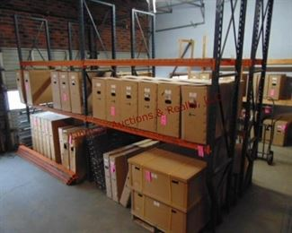 2 Sections of pallet racking w/ 6 shelves