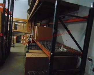2 Sections of pallet racking w/ 7 shelves
