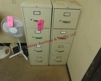 3 - 4 drawer letter file cabinets