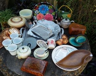 tons of dishware and kitchen