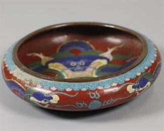 Chinese cloisonné brush washer, possibly Republican period/19th c.