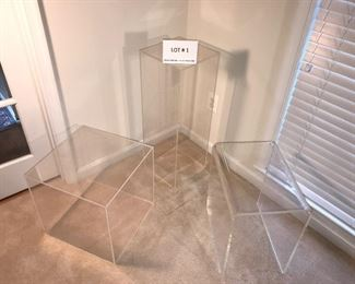 Lucite tables/stand