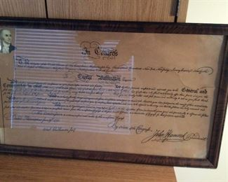 reproduction George Washington's commission and oath