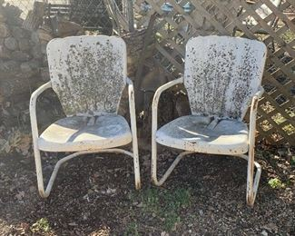 Vintage outdoor metal chairs