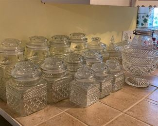 Wexford canisters and glassware
