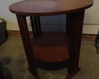 Arts and Crafts Cherry Craftsman Round Lamp or Hall Table Stickley